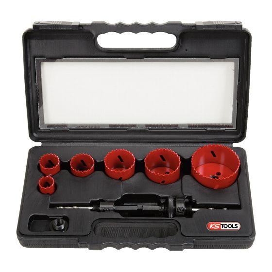 Coffret de 6 scies cloches, Ø22 à 68 mm KS Tools 129.5550
