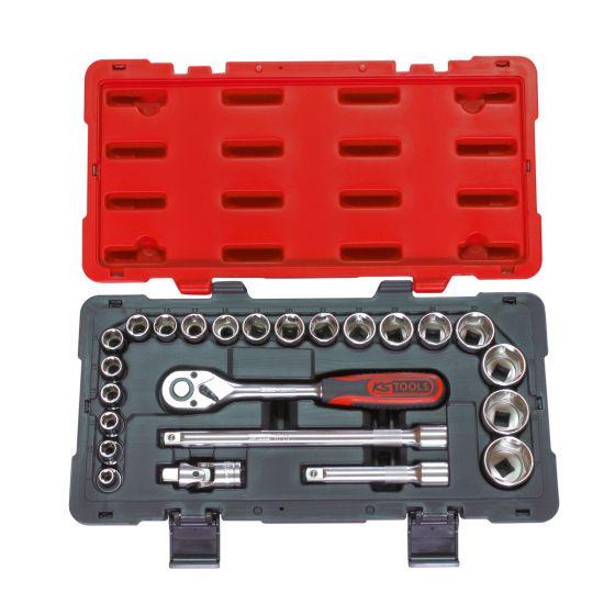 Coffret de douilles et accessoires ULTIMATE 1/2'', 23 pièces KS Tools 922.0623
