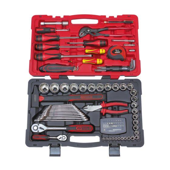 Coffret de douilles et accessoires ULTIMATE 1/4'' - 1/2'', 101 pièces KS Tools 922.0701