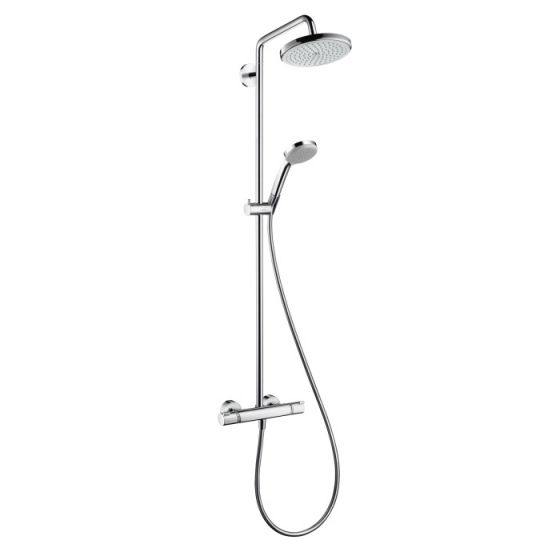 hansgrohe showerpipe croma 220 bras de douche 400 mm. Black Bedroom Furniture Sets. Home Design Ideas
