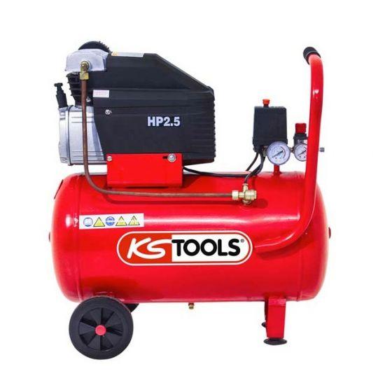 Compresseur d'air 50 litres - 8 bars - 2CV - 230V - KS Tools 165.0703