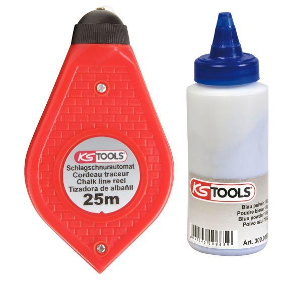 Cordeau rechargeable et poudre bleue, 150 g KS Tools 300.0080