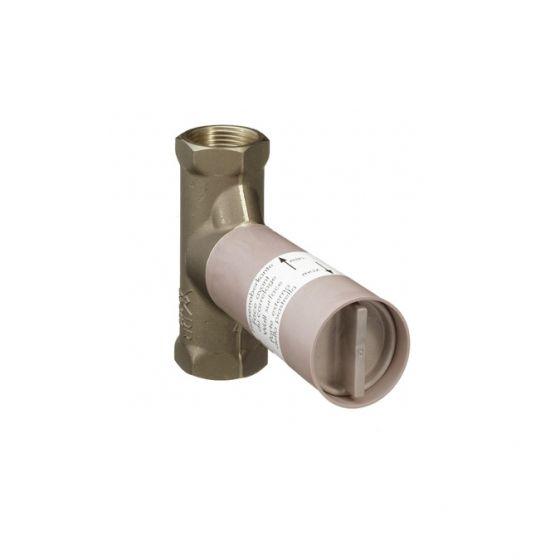 Corps encastrement robinet arrêt 1/2 à clapet Débit 80l/mn