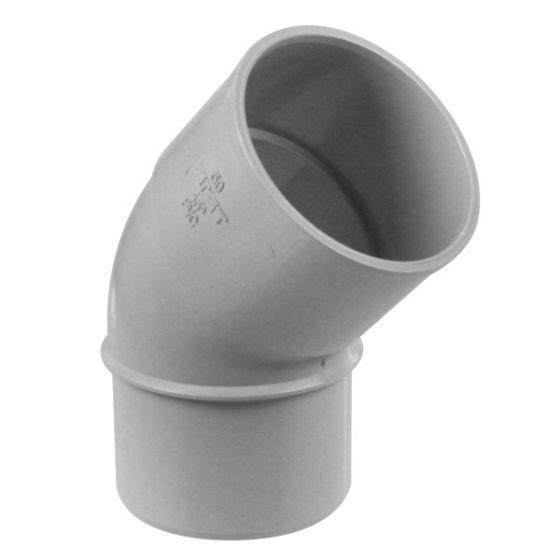Coude PVC 45° MF pour tube de descente Ø50