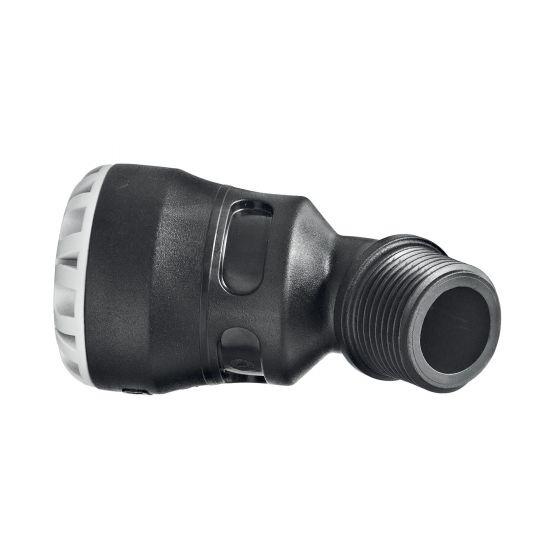 Coude à 45° fileté - encliquetable tube PE - Série 1 - Plasson