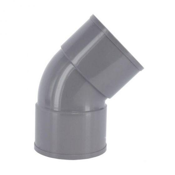 Coude PVC 45° Femelle/Femelle - First Plast
