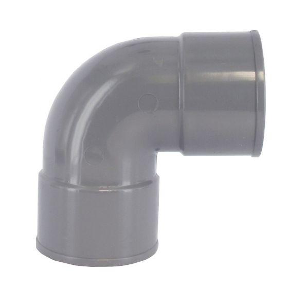 Coude PVC 87°30 FF pour tube de descente Ø80