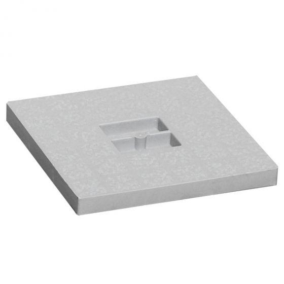 Couvercle PVC pour siphon de balcon 130x130mm - Gris