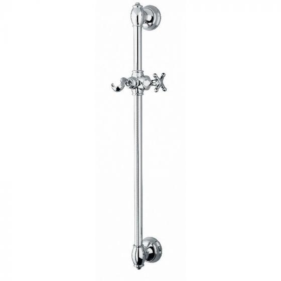 Barre de douche Charleston Rétro seule métal brossé - Ondyna CS25077