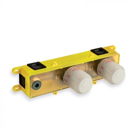 Box d'encastrement pour lavabo 3 trous poignée déportée - Ondyna CS23400
