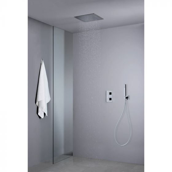 pluie douche pommeau de douche effet pluie dpg extra plat x cm chrom dtails pomme de douche. Black Bedroom Furniture Sets. Home Design Ideas