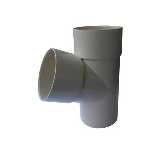 Culotte PVC 67°30 MF pour tube de descente Ø80