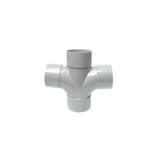 Culotte PVC Double Parallèle 87°30 Femelle Femelle Ø100 FIRST-PLAST