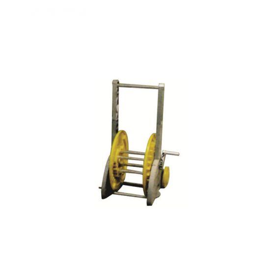 Dévidoir sur roues stable pour tuyau Ø15 (50m) et Ø19 (35m)