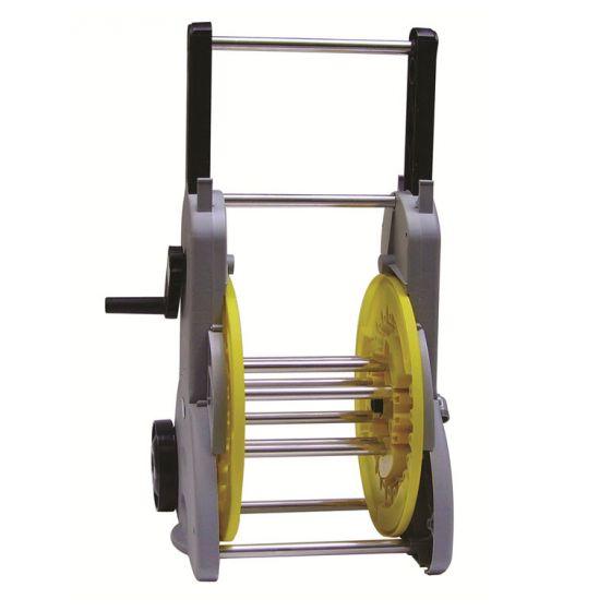 Dévidoir sur roues manivelle débray+démult tuyau Ø15 (50m)-Ø19 (35m)