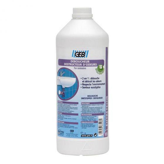 Déboucheur et destructeur d'odeurs - Liquide biologique 1L