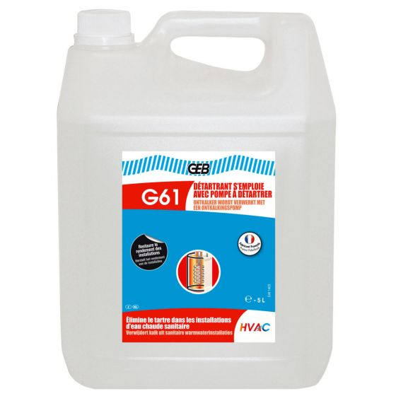 Détartrant G61 GEB s'emploie avec pompe - Bidon 5L