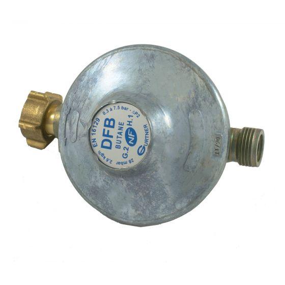 Détendeur fixe basse pression butane - 2,6 kg/h 28 mbar