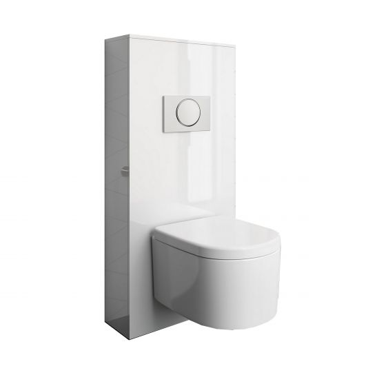 Habillage Bâti Support Pour Wc Suspendu Unit Blanc