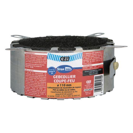 Collier coupe-feu GEBCOLLIER pour tuyau PVC