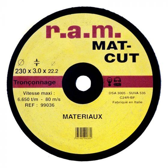 Disque abrasif MAT-CUT diamètre 115 x 2,5mm
