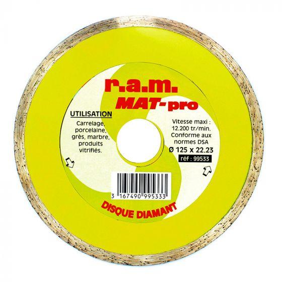 Disque diamant MAT-PRO diamètre 125 x 1,6mm