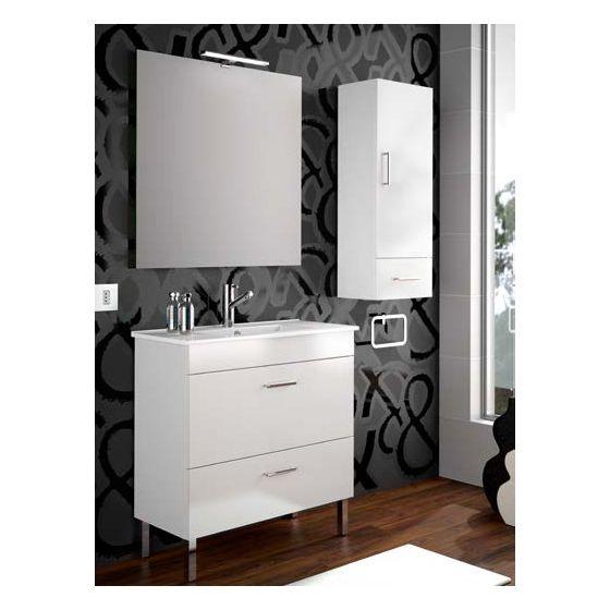 Ensemble complet salle de bain ALMAGRO 800 Blanc brillant