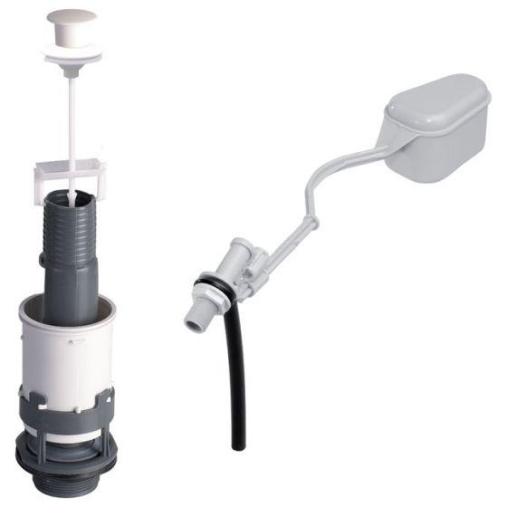 Ensemble Mécanisme de chasse MX à tirette + robinet flotteur F12