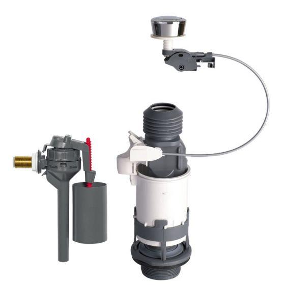 Ensemble NF mécanisme wc MD2 à câble simple touche + robinet flotteur TOPY WIRQUIN