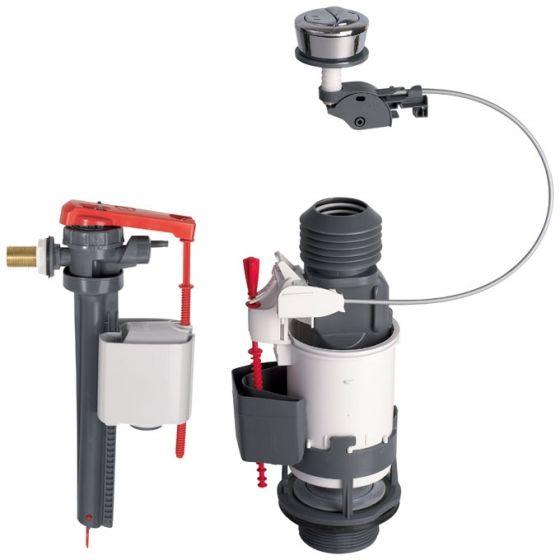 Ensemble NF mécanisme wc MW2 à câble + robinet flotteur JOLLYFILL WIRQUIN