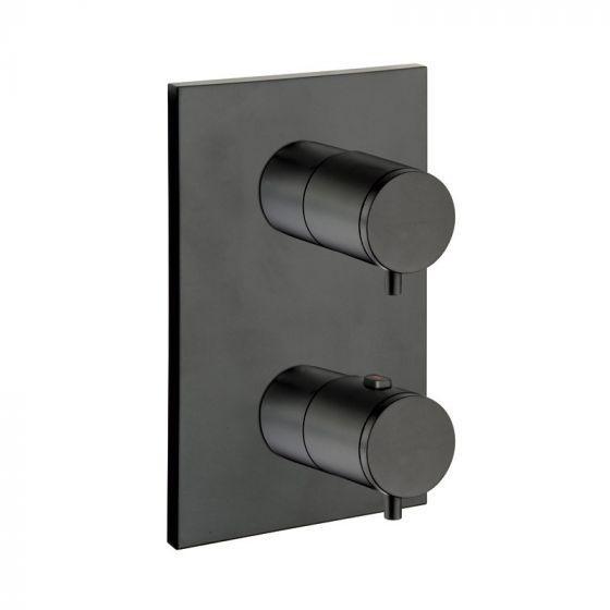 Façade thermostatique 3 sorties en laiton Blackmat Triverde - Ondyna XT85313