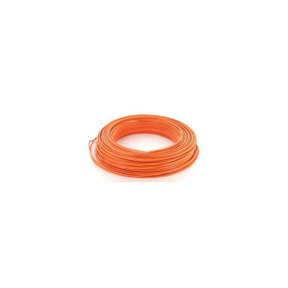Fil électrique HO7VU 1.5mm² Orange en 100m