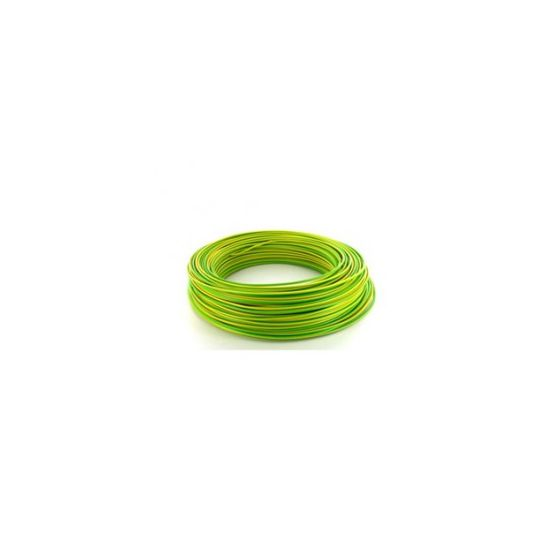 Fil électrique HO7VU 2.5mm² Vert/Jaune en 100m