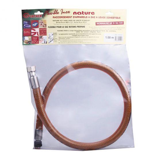 Flexible NF INOX garantie à vie Butane / Propane 0.75ml