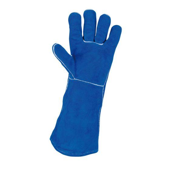 Gants de protection longs en cuir pour soudeur KS Tools