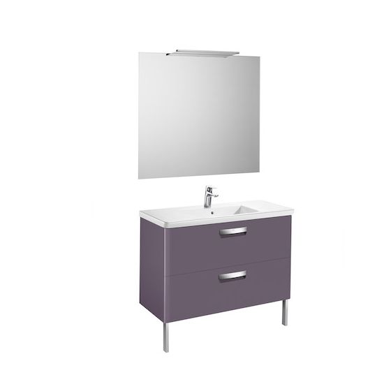 Pack Unik THE GAP 1000 2 tiroirs, lavabo, miroir et applique LED