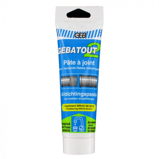 Gebatout p te joint pour raccords filet s for Pate a joint plomberie