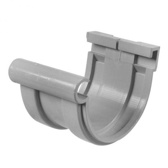 Jonction longue PVC 16 demi-ronde