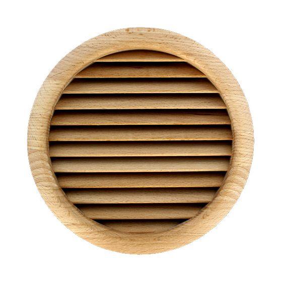 Grille ventilation ronde bois Ø extérieur 172mm - Ø trou 160mm - à encastrer