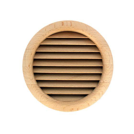 grille ventilation ronde bois encastrer 130. Black Bedroom Furniture Sets. Home Design Ideas
