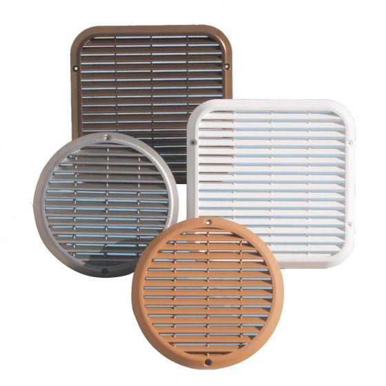 grille de ventilation ronde en aluminium anti choc. Black Bedroom Furniture Sets. Home Design Ideas