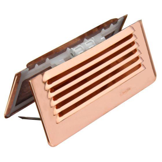 Grille ventilation pliable à clipser Cuivre IN OUT