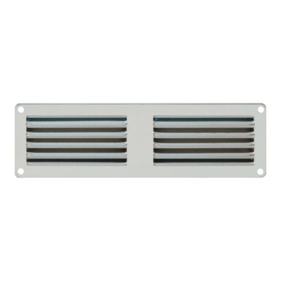 grille ventilation m tal 100x60mm couleur aluminium ou inox. Black Bedroom Furniture Sets. Home Design Ideas