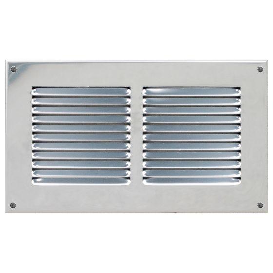 Grille ventilation métal 240x140mm - Couleur Aluminium ou inox