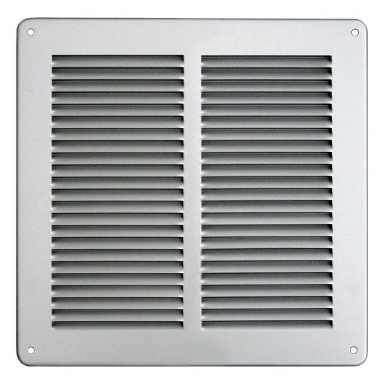 Grille ventilation métal 240x240mm - Couleur Aluminium ou inox