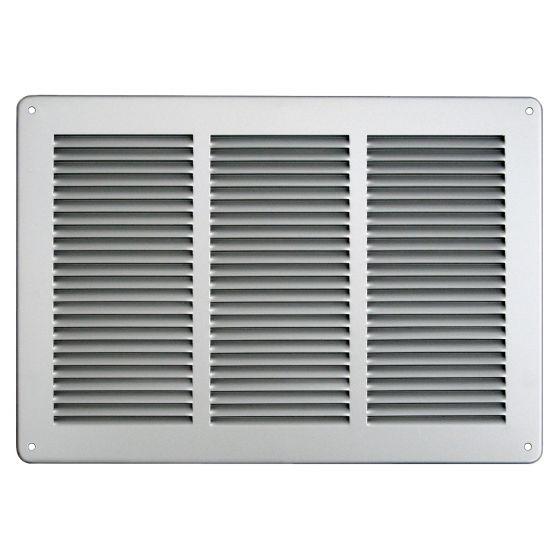 Grille ventilation métal 340x240mm - Couleur Aluminium ou inox
