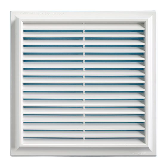 Grille ventilation PVC traditionnelle 240x240mm - Applique