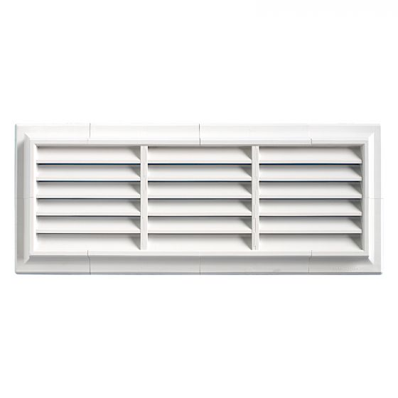 grille ventilation pvc traditionnelle 140x340mm pose en applique. Black Bedroom Furniture Sets. Home Design Ideas