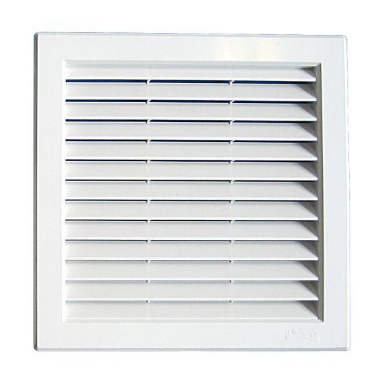 Grille ventilation PVC traditionnelle 217x217mm - A encastrer