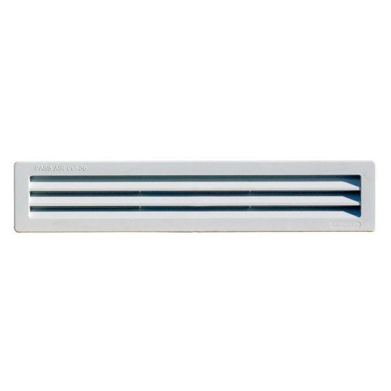 Grille ventilation rectangulaire PVC 305x60mm à encastrer